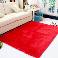 Karpet Bulu 150x100cm Cocok Untuk Keindahan Ruang Tamu (MERAH)