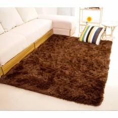 Karpet Bulu Berbulu Anti Selip Tikar/Karpet Permadani Yang Menutupi Lantai 150x100cm Cokelat