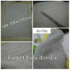 Karpet Bulu Domba Abu 100*130cm