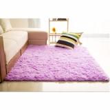 Review Toko Karpet Bulu Kasar Anti Selip Tikar Karpet Permadani Yang Menutupi Lantai 150 Cm X 100 Cm Ungu Online