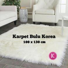Karpet Bulu Korea Tebal Ukuran 100x130cm