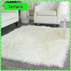 Karpet Bulu Putih Lembut 70x130cm HIGH QUALITY