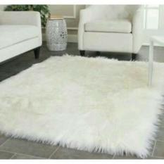 Karpet bulu putih murah III karpet tebal II karpet putih