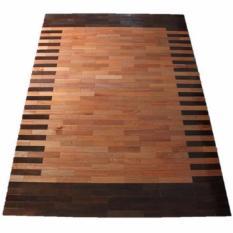 Karpet Kayu Meranti Motif 140cm x 200cm, Karpet Kayu Solid, Parket Kayu Lantai, Karpet Borneo Kalimantan, Alas Kayu, Tikar Kayu, Lampit Kayu