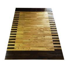Karpet Kayu Sungkai Motif 140cm x 200cm, Karpet Kayu Solid, Parket Kayu Lantai, Karpet Borneo Kalimantan, Alas Kayu, Tikar Kayu, Lampit Kayu