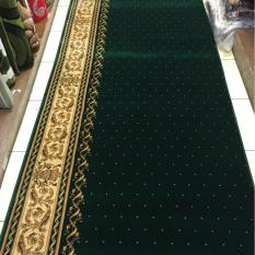 karpet masjid motif meteran warna hijau TEBRIZ