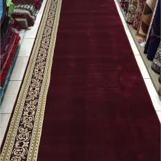 karpet masjid murah meteran warna merah TEBRIZ