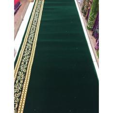 karpet masjid murah per roll warna hijau TEBRIZ