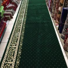 karpet masjid pabrik meteran warna hijau TEBRIZ