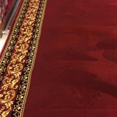 karpet masjid polos meteran warna merah TEBRIZ
