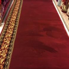 karpet masjid polos per roll warna merah TEBRIZ
