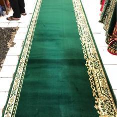 karpet mushola harga meter warna hijau SUPER MOSQUE