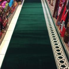 karpet musholla murah meteran warna hijau BLUE MOSQUE