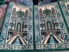 Karpet Sajadah Medeena Mesjid Hijau 105X570cm Limited