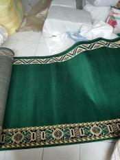 Karpet Sajadah Medeena Polos Hijau 105X600cm Murah