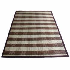 Karpet Webbing Coklat Ukuran 140cm x 200cm, Karpet Rotan, Karpet Anyaman, Tikar Anyaman Tradisional, Alas Lantai, Karpet Anti Alergi, Karpet Anti Slip