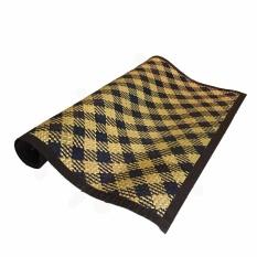 Harga Karpet Tikar Anyaman Purun 100 Cm X 200 Cm Coklat Dan Hitam Motif South Kalimantan
