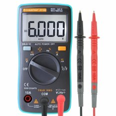 KASUNTEST ZT102 Mini Auto Mulai Digital Multimeter 6000 Menghitung TRMS Portable Multitester OHM/Hz/Temp/Duty Siklus AC/DC Mengukur Tester With Backlit Biru/Abu-abu