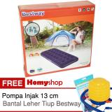 Jual Kasur Angin Kasur Tiup Bestway Single Twin Double Queen King Seri 67000 67001 67002 67003 67004 Berkualitas Free Pompa Injak Bestway Dan Bantal Leher Tiup Bestway Asli