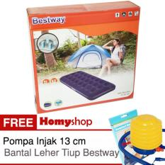 Beli Kasur Angin Kasur Tiup Bestway Single Twin Double Queen King Seri 67000 67001 67002 67003 67004 Berkualitas Free Pompa Injak Bestway Dan Bantal Leher Tiup Bestway