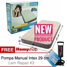 INTEX DuraBeam Twin 64707 Kasur Angin / Kasur Udara [99x191x25 cm] Free Pompa Tangan Intex + Lem Repair Kit