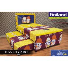 Kasur Finiland 2in1 TOY CITY Spring Bed Anak, 100x200 FULLSET [JABODETABEK ONLY]