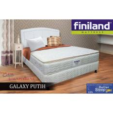 Kasur Finiland GALAXY WHITE Spring Bed, Semi Pillow Top 160x200 Mattress Only [JABODETABEK ONLY]