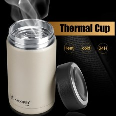 Jual Cepat Kaxifei Stainless Steel Vacuum Thermal Insulated Travel Flask Coffee Cup Champagne Intl