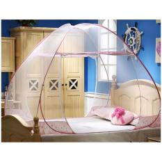 Kelambu Tenda/ Tudung Kanopi Kasur Ranjang Anti Nyamuk 180 x 200CM Bisa untuk Camping - LIST PINK