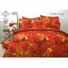 Jual Kendra Signature Sprei Set Violin Rose Single Size 120X200 Branded Murah