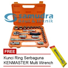 Review Kenmaster Kunci Sock Set 22 Pcs Kunci Ring Pas Toolkit Snap N Grip Kenmaster