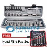 Beli Kenmaster Kunci Sock Set 27 Pcs Kunci Ring Pas Set 7 Pcs K55 8 19 Mm Terbaru
