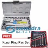 Jual Kenmaster Kunci Sock Set 40 Pcs Kunci Ring Pas Set 7 Pcs K55 8 19 Mm Online Di Indonesia