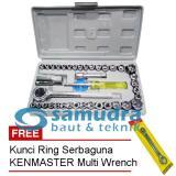 Jual Kenmaster Kunci Sock Set 40 Pcs Kunci Ring Pas Toolkit Snap N Grip Ori
