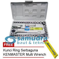 Spesifikasi Kenmaster Kunci Sock Set 40 Pcs Kunci Ring Pas Toolkit Snap N Grip Kenmaster