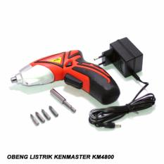 Penawaran Istimewa Kenmaster Mesin Bor Adaptor Listrik Cordless Drill Km4800 Flashlight Terbaru