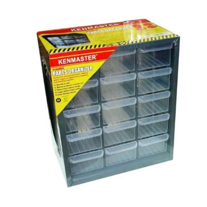 Kenmaster Rak Drawer 15 Susun - Kotak Sparepart - Kotak