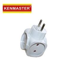 Kenmaster Steker 418B - Kenmaster steker Adaptor 4arah -Colokan Listrik