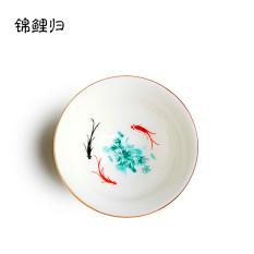 Dehua Porselen Giok Cangkir Teh Keramik Pemilik Topi Mangkuk Teh Kungfu Set Peralatan Teh Porselen Biru