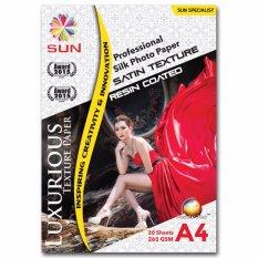 Toko Kertas Foto Sun Professional Silk Photo Paper 265 A4 Satin Texture Jawa Timur