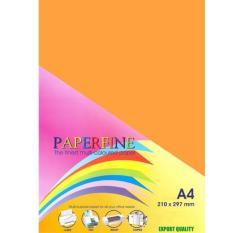 Beli Kertas Hvs Warna Paperfine Warna Cyber Orange Isi 500 Lembar Paperfine Dengan Harga Terjangkau