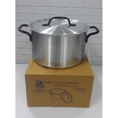 Kidstafun - BIMA PANCI ALUMINIUM SAUCEPOT 24CM 5-0 LITER MADE IN INDONESIA - A004 - Multicolor