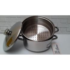 Harga Kidstafun Bima Panci Stainless Steel Prima Pot Steamer 20Cm Kukusan Cover Multicolor Terbaru