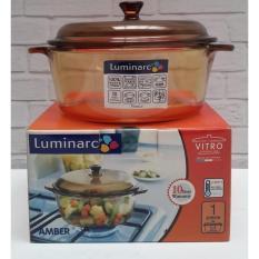 Kidstafun - Luminarc Amber Vitro Casserole +Tutup 1-5 Liter - Panci Dutchoven Kaca - Multicolor