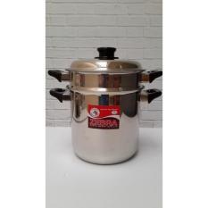 Kidstafun - Zebra Double Boiler 20 cm Steaming Pot Panci Tim Stainless Thailand - Multicolor
