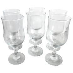 KIG Gelas Wine Set 6Pieces Polos Elegant Transparan / Gelas Anggur / Gelas Mewah / Gelas Kaca / Gelas Berkualitas / Gelas Lucu / Gelas Unik