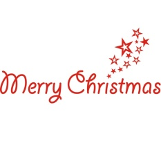 Kimito 360DSC Zooyoo Warna Merah Merry Surat Natal dan Pentagram Natal Dinding Kaca Jendela Stiker Seni