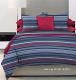 Beli King Rabbit Bed Cover Harwood Biru Double 230X230 Dan Single 140X230 Seken