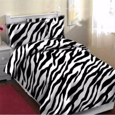 Review Toko King Sprei Bahan Katun Lokal Motif Abstrak Big Zebra Online