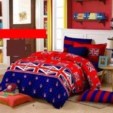 Harga King Sprei Katun Motif Bendera Union Jack Fullset Murah